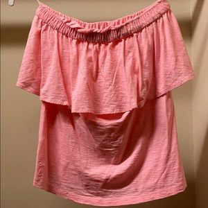 Lilly Pulitzer Wiley ruffle tube top